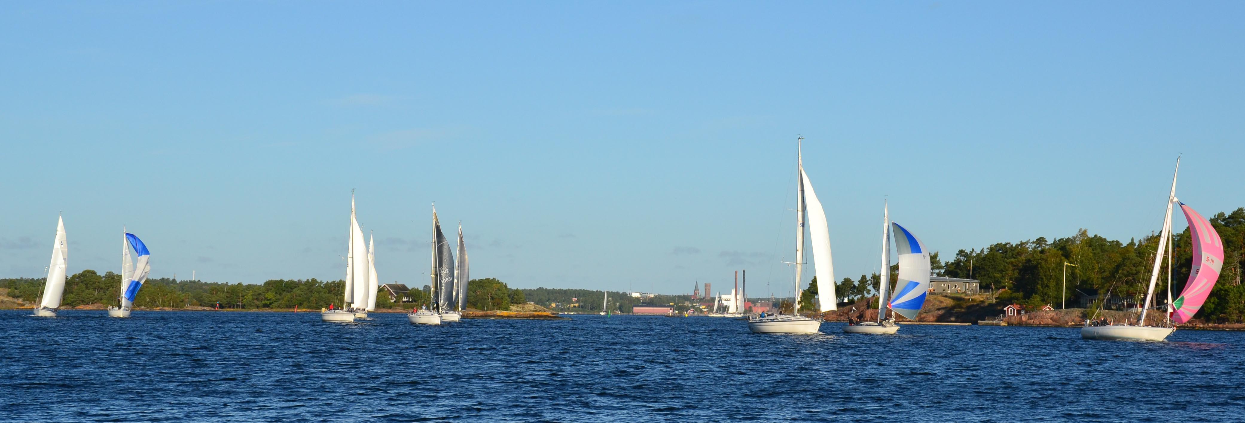 Starten utanför Skansholmen