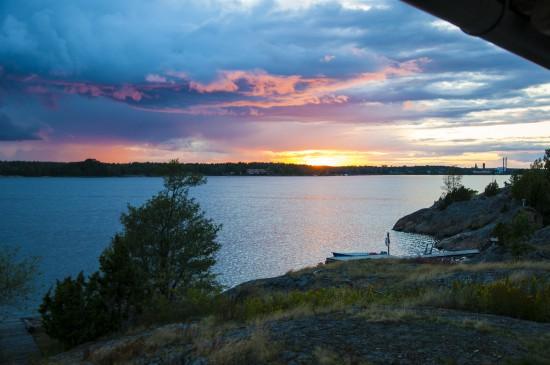 Solnedgång över Västervik